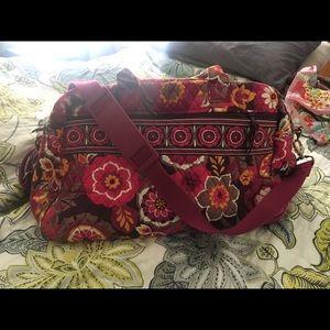 Pink print Vera Bradley bag carry on